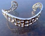 curved lace silver bracelet f