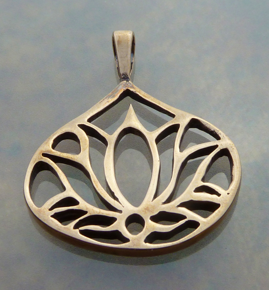 Bronze Lotus Flower Pendant (1/4)