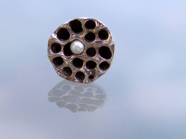 Pearl in Lotus Seed Pod Ring (1/6)