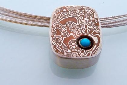 mokume filligris pendant