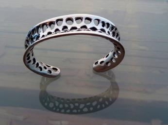 silver lace cuff.A