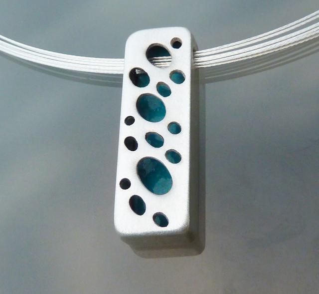 blue shaodwbox pendant