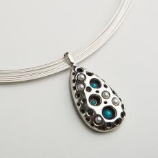 Matagi Sorensen Turquoise Pearl pendant copy